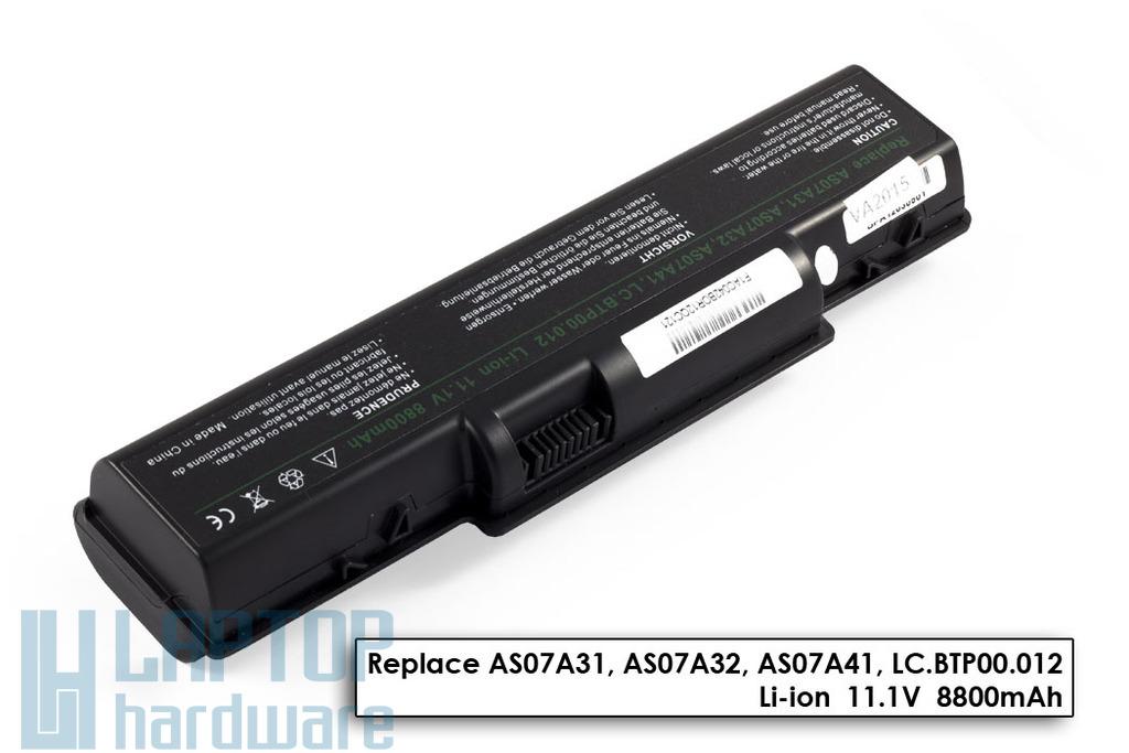Acer Aspire 2930, 4730, 5735 helyettesítő új 12 cellás laptop akku/akkumulátor (AS07A31)