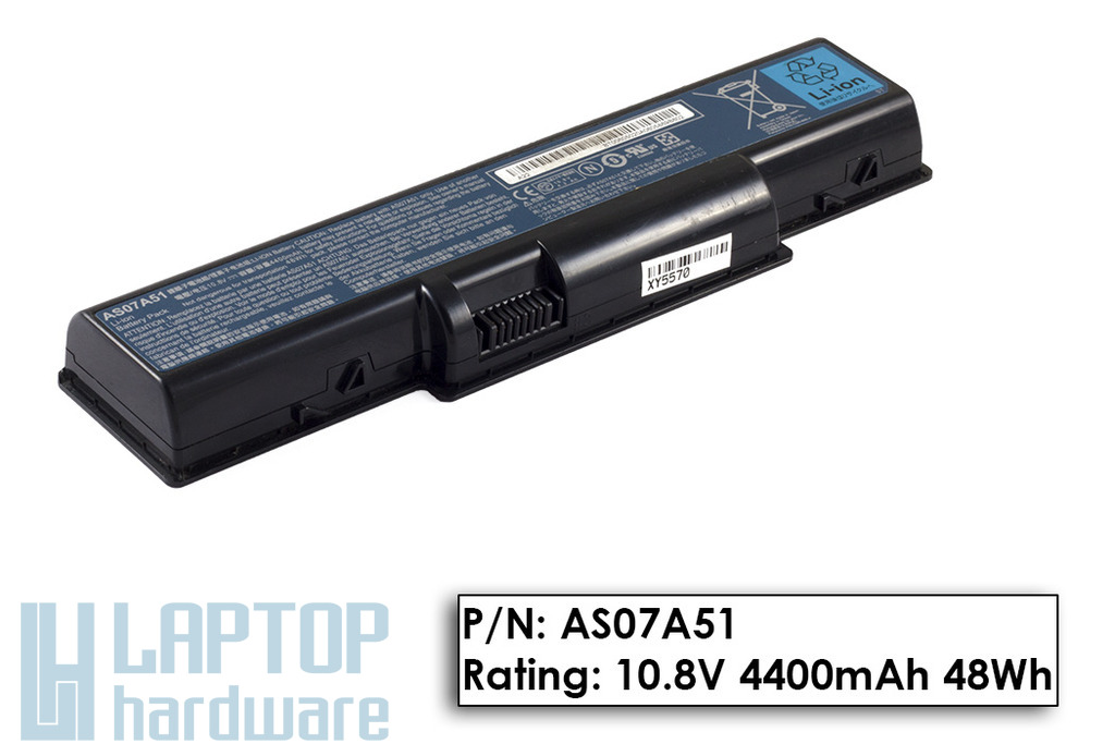 Acer Aspire 2930, 4930, 5740 használt 80%-os 6 cellás laptop akku/akkumulátor (AS07A51)