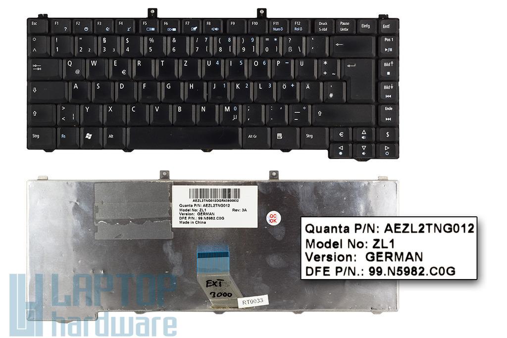 Acer Aspire 3000, Extensa 3000 használt német laptop billentyűzet (AEZL2TNG012)