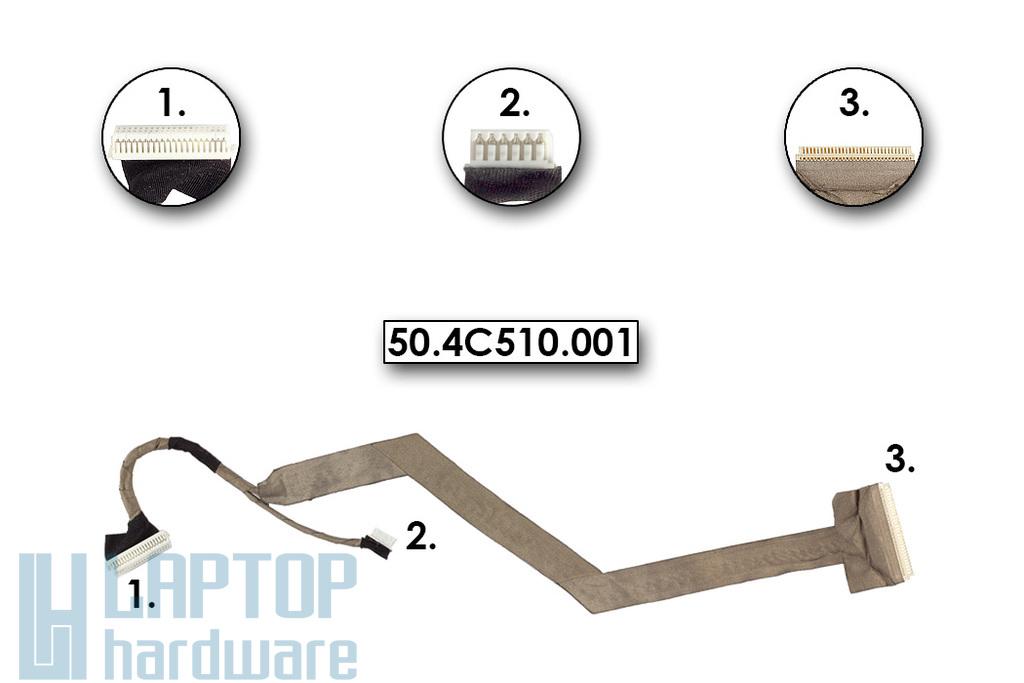 Acer Aspire 3020, 5020 LCD kijelző kábel, 50.4C510.001