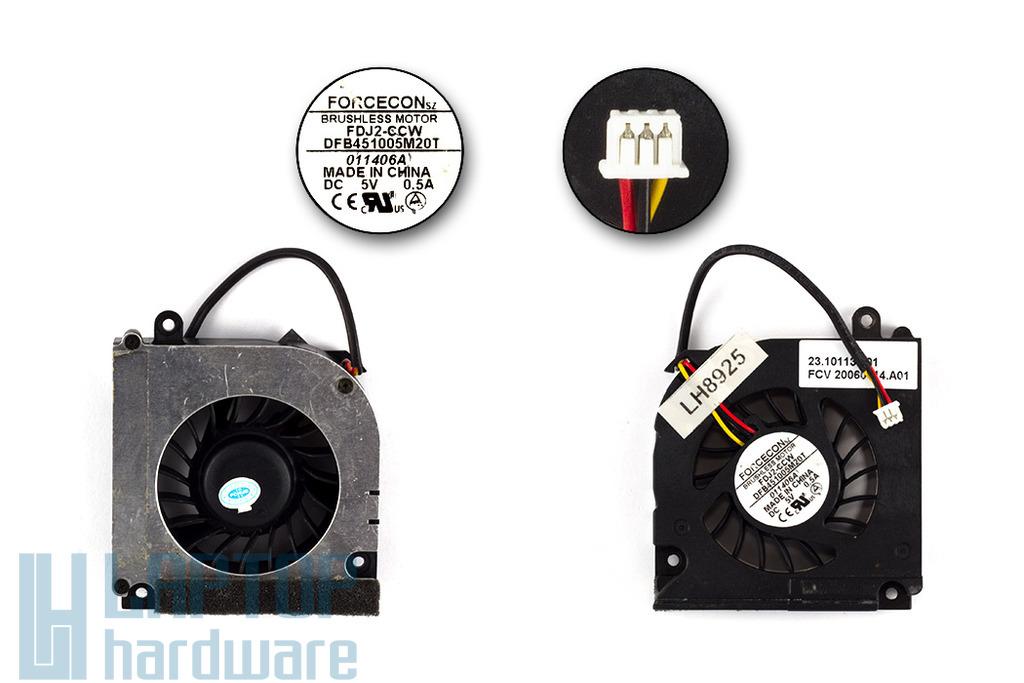 Acer Aspire 3020, 5020, Travelmate 4400 használt laptop hűtő ventilátor (FDJ2-CCW)