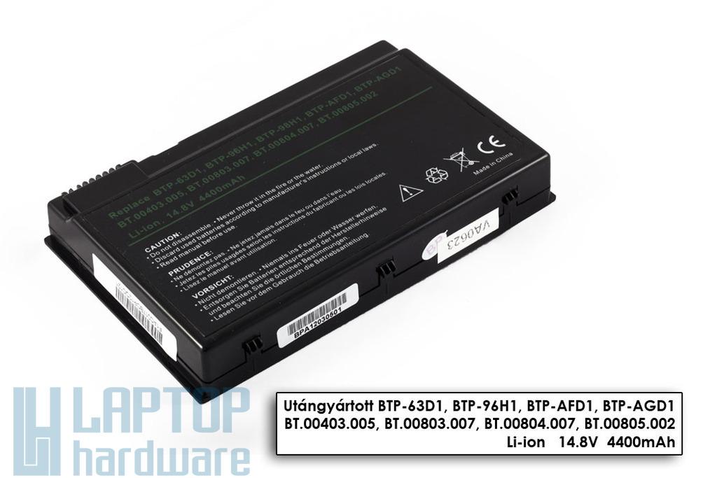 Acer Aspire 3020, 5020, Travelmate 2410 helyettesítő új 8 cellás laptop akku/akkumulátor (BTP-63D1)