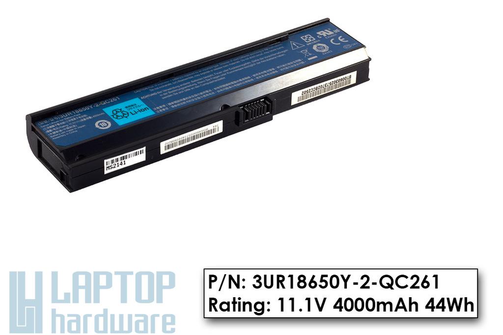 Acer Aspire 3030, 5550, Travelmate 4310 használt gyári 6 cellás laptop akku/akkumulátor 80%-os (3UR18650Y-2-QC261)