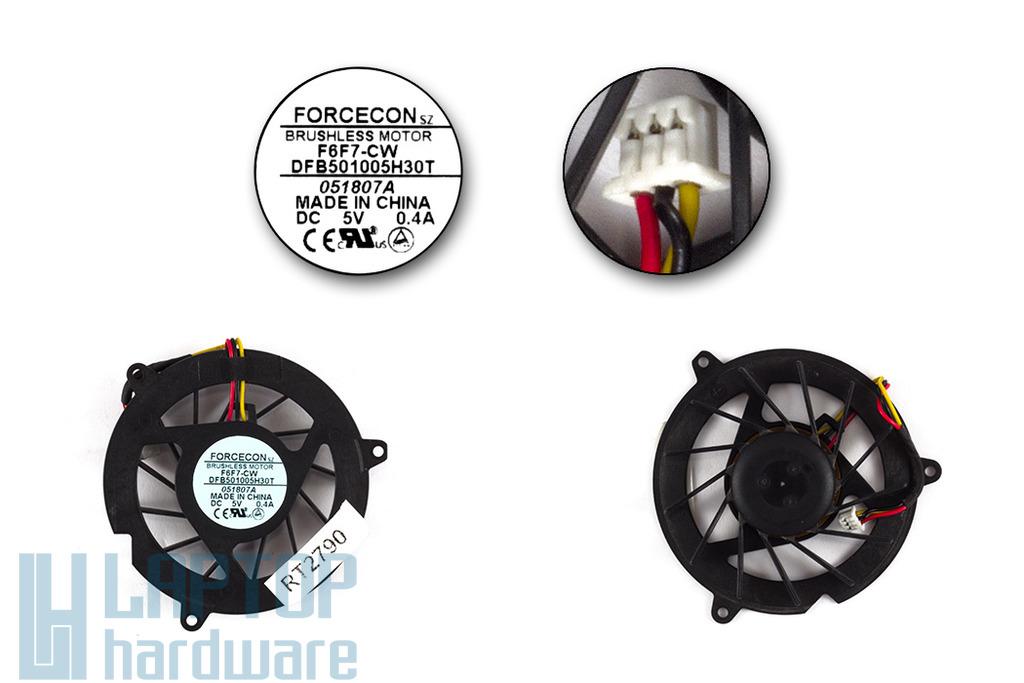 Acer Aspire 3050, 4710, 4920, 4920G, 5050 gyári új laptop hűtő ventilátor (F6F7-CW)