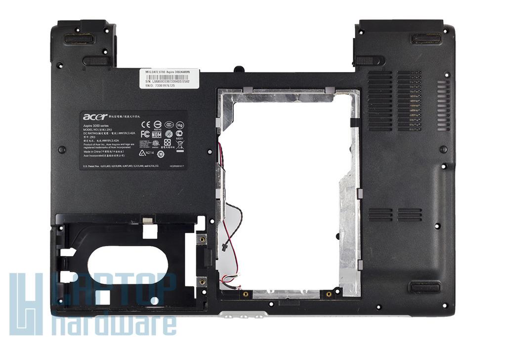Acer Aspire 3050, 5050 laptophoz használt alsó fedél, bottom case cover, ZYE36ZR3BATN14070713
