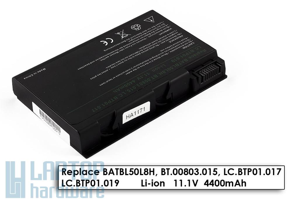 Acer Aspire 3100, 5100, Travelmate 2493 helyettesítő új 6 cellás laptop akku/akkumulátor (BATBL50L4)