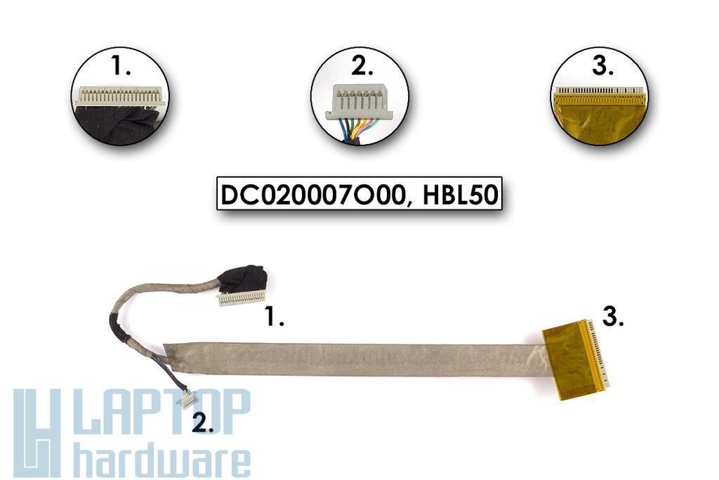 Acer Aspire 3100, Travelmate 2490 laptophoz használt LCD kábel (DC020007O00)