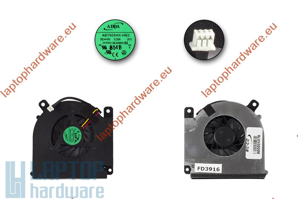 Acer Aspire 3690, 5610, Travelmate 2490, 4200 használt laptop hűtő ventilátor, AB7505HX-HB3, 23.TAVV5.004