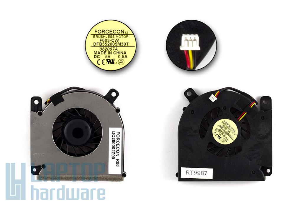 Acer Aspire 3690, 5610, Travelmate 2490, 4200 gyári új laptop hűtő ventilátor (DFB552005M30T)
