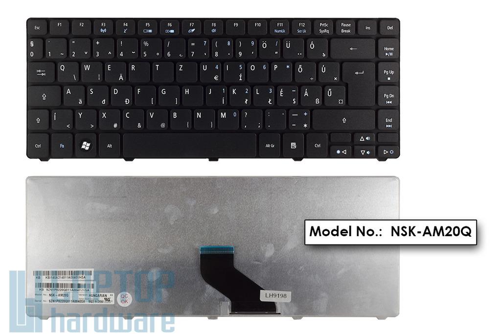 Acer Aspire 3750, 3810T, 4745, 4810T gyári új magyar matt fekete laptop billentyűzet (KB.I140A.214)