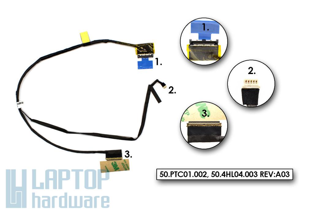 Acer Aspire 3820, 3820T, 3820G gyári új laptop LCD kijelző kábel (50.PTC01.002)