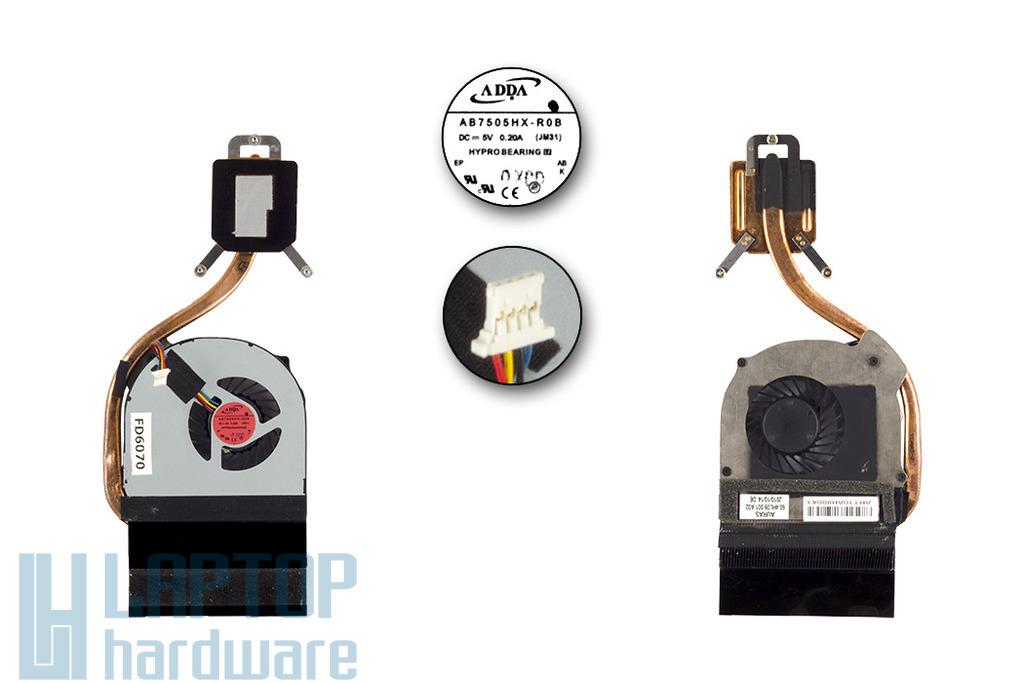 Acer Aspire 3820T, 3820TG laptop processzor hűtő ventilátor egység, 60.4HL09.001, AB7505HX-R0B