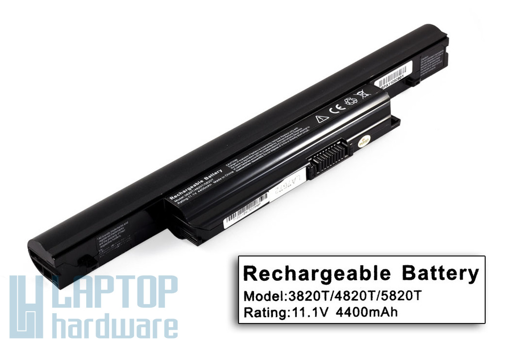 Acer Aspire 3820T, 4820T, 5820T helyettesítő új 6 cellás laptop akku/akkumulátor (AS10B31)