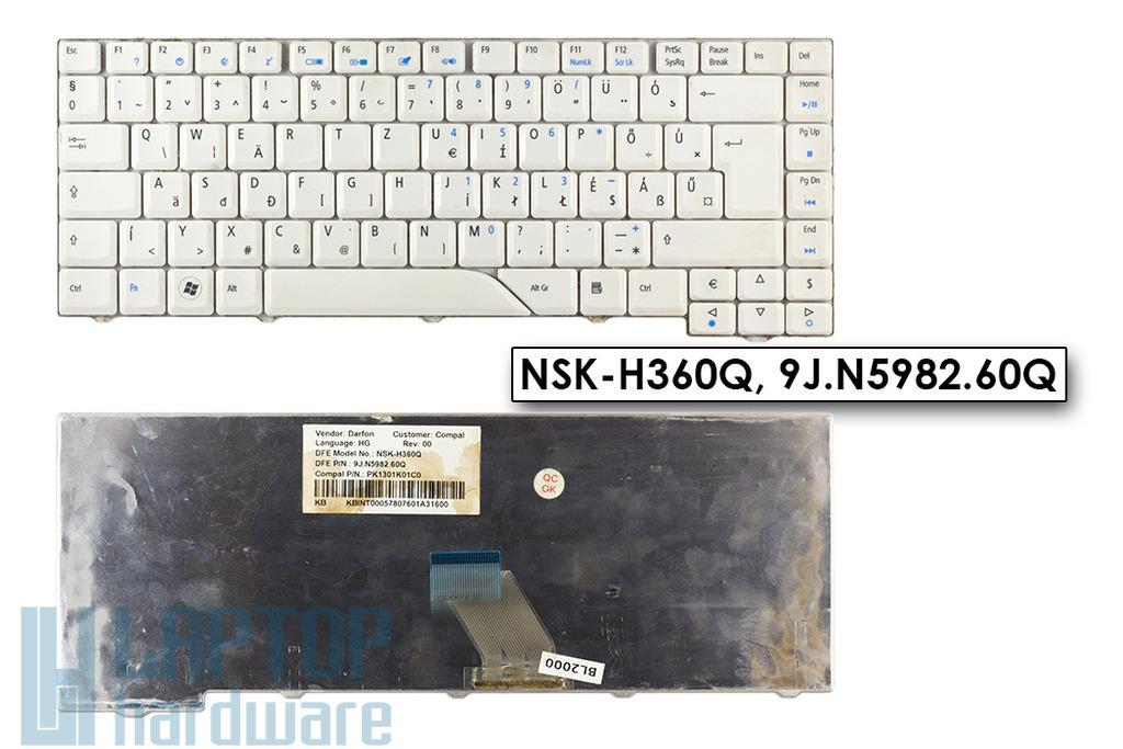 Acer Aspire 4220, 4935 MP-07A26HU-442 használt magyar fehér billentyűzet