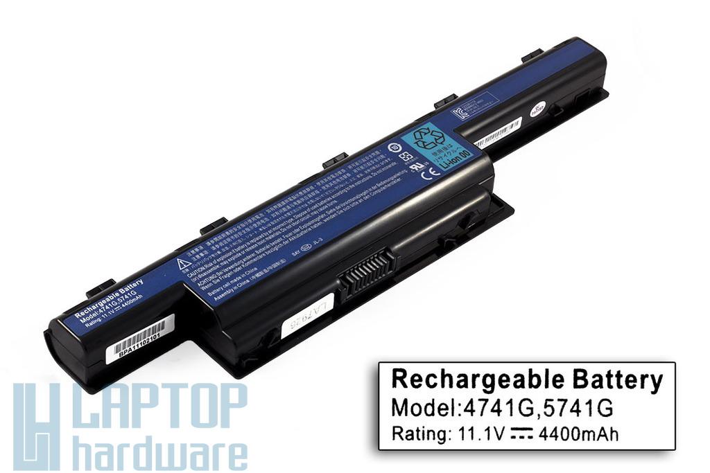 Acer Aspire 5736, 5741, 5742 helyettesítő laptop akku/akkumulátor  4400mAh, 48Wh, 6 cellás
