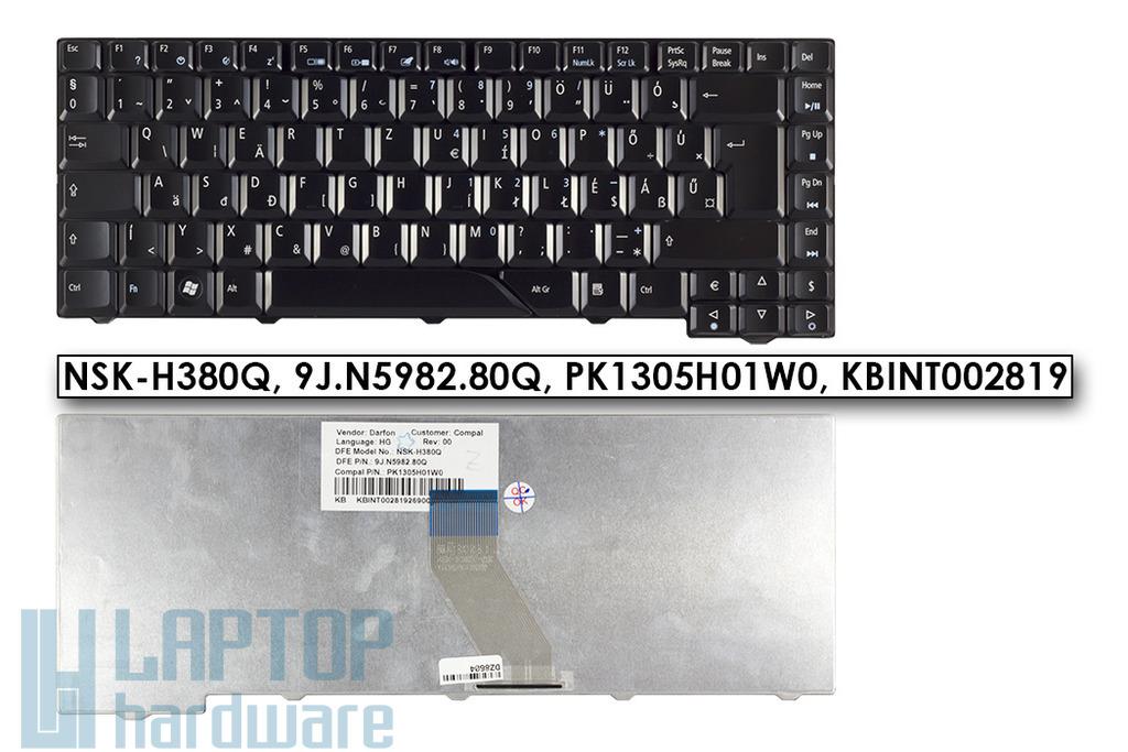 Acer Aspire 4710, 5730, 5730G gyári új magyar fényes fekete laptop billentyűzet (NSK-H380Q, KB.INT00.281)