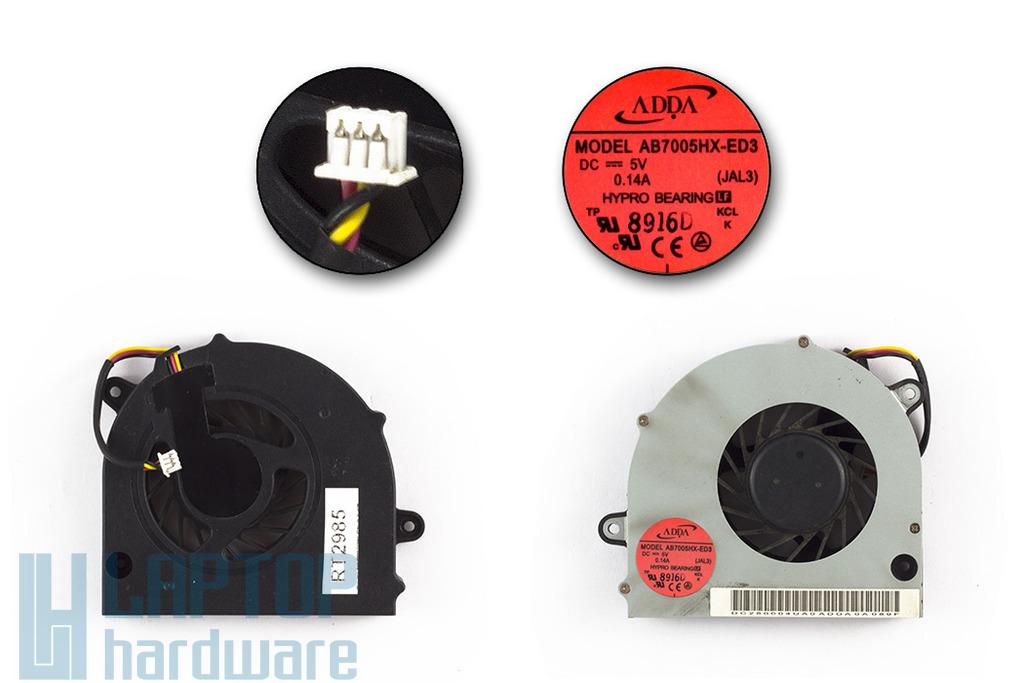 Acer Aspire 4730, 4736Z, 4736, 4736G, 5530 használt laptop hűtő ventilátor (AB7005HX-ED3 JAL3, DC280004UA0)