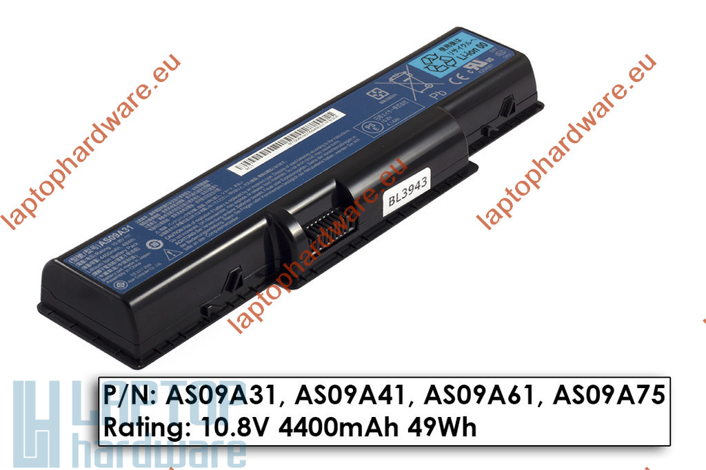 Acer Aspire 4732, 5332, 5735, 5732 eMachines D525, E620 használt 40%-os 6 cellás akku/akkumulátor (AS09A31)
