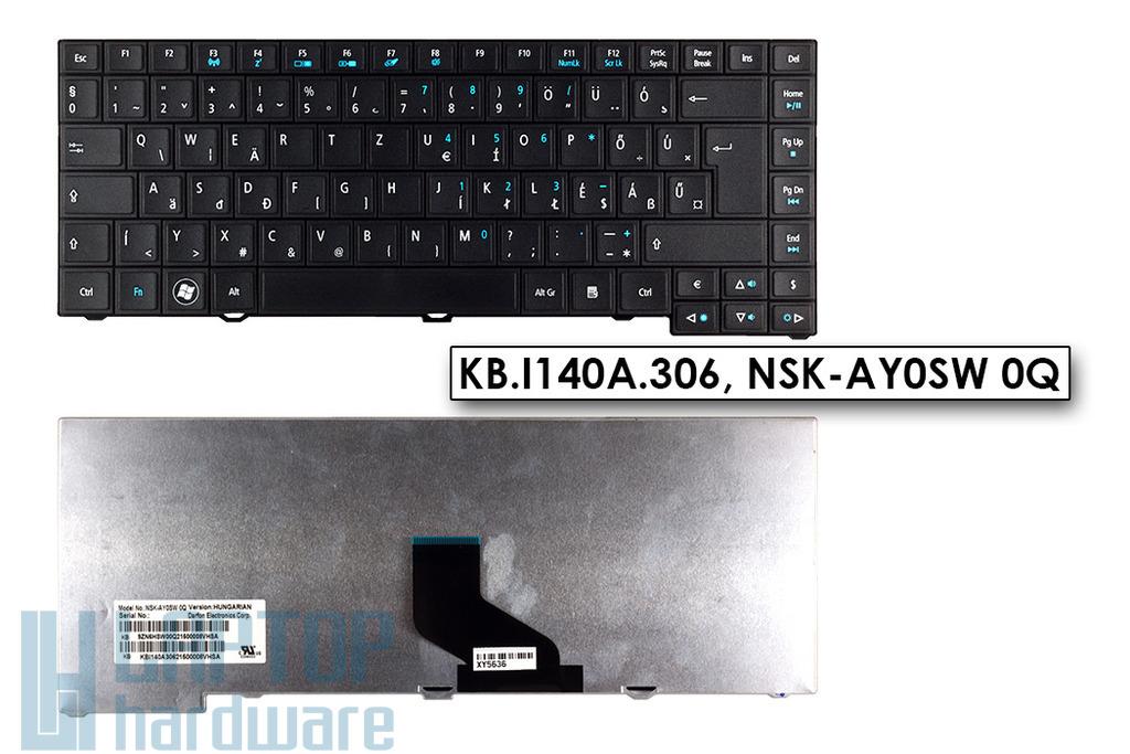 Acer Aspire 4750, Travelmate P243-M gyári új magyar matt fekete laptop billentyűzet (KB.I140A.306)
