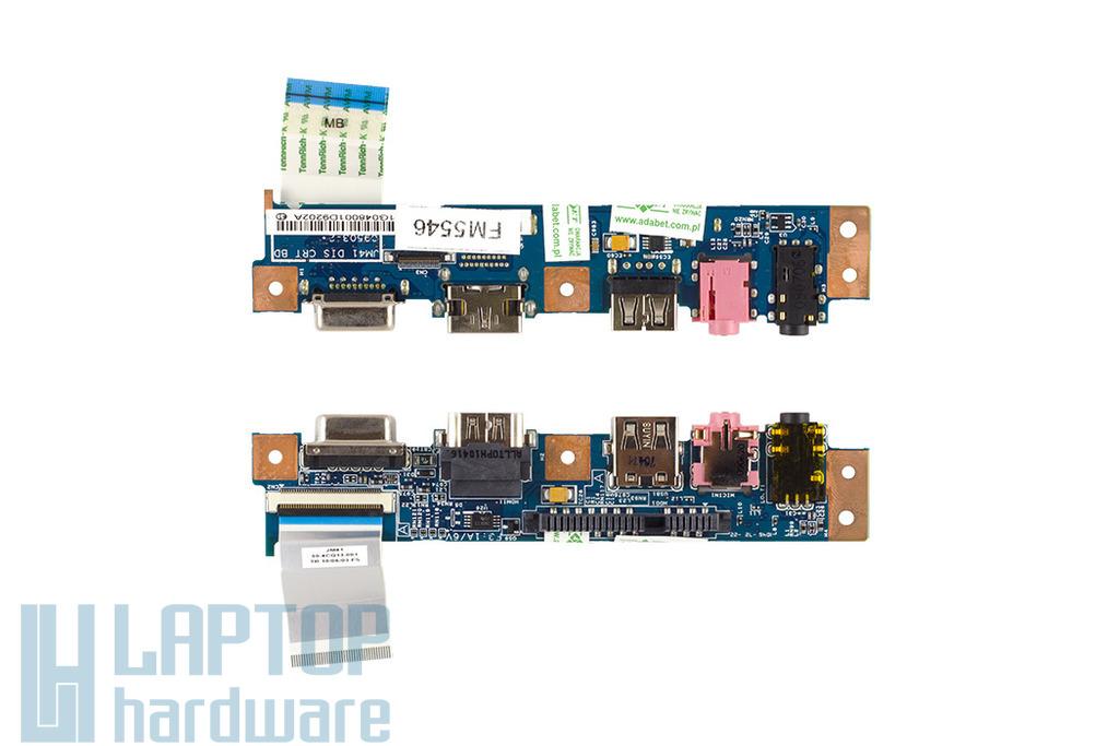 Acer Aspire 4810TG laptop Audio, USB, HDMI, VGA panel kábellel, 55.PE101.002