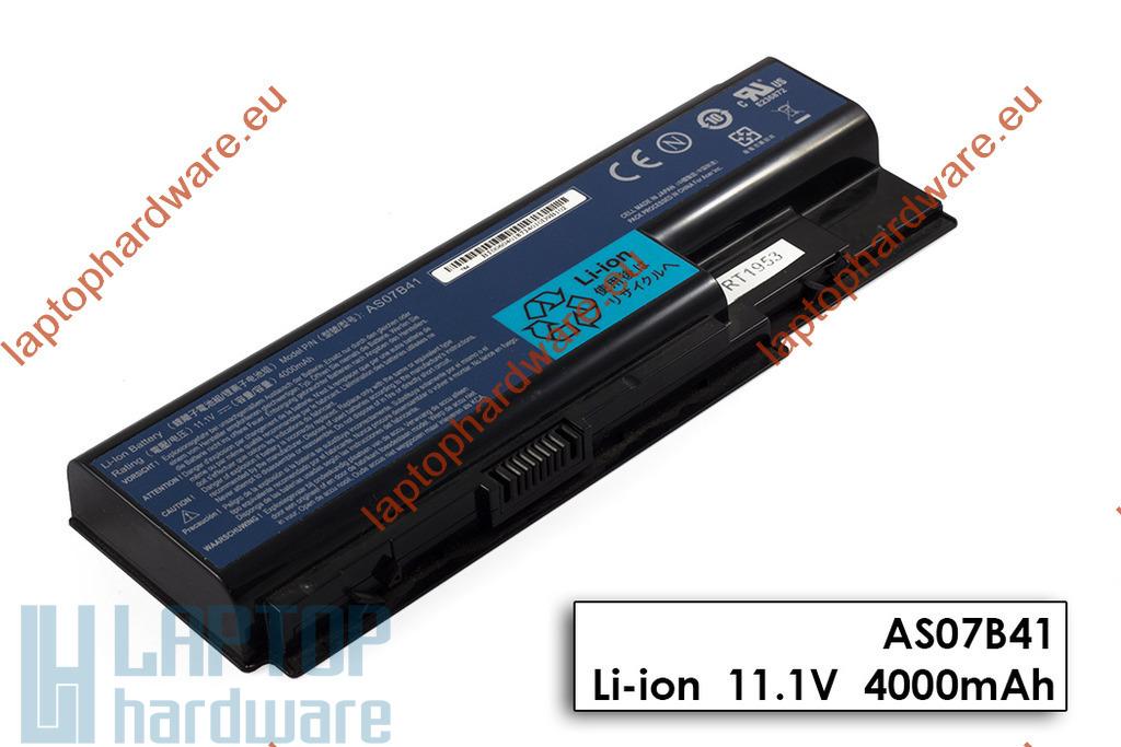 Acer Aspire 5220, 5315, 5500, Travelmate 7730 használt 6 cellás 80%-os gyári laptop akku/akkumulátor (AS07B41)