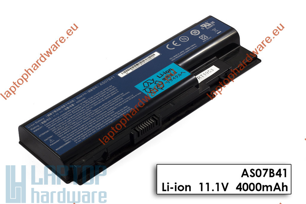 Acer Aspire 5220, 5315, 5500, Travelmate 7730 használt 6 cellás 70%-os gyári laptop akku/akkumulátor (AS07B31, AS07B41)