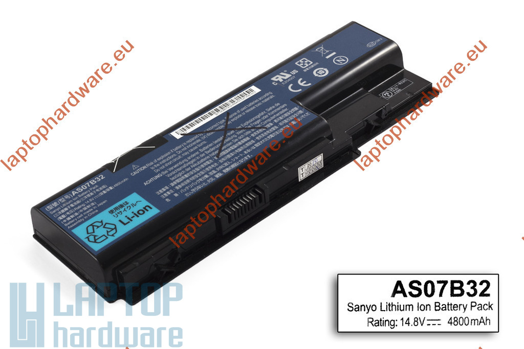 Acer Aspire 5220, 5315, 5720 használt 8 cellás 60%-os laptop akku(AS07B32)