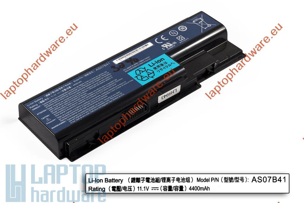 Acer Aspire 5220, 5500, Travelmate 7230 használt 6 cellás 90%-os laptop akku/akkumulátor (AS07B41)