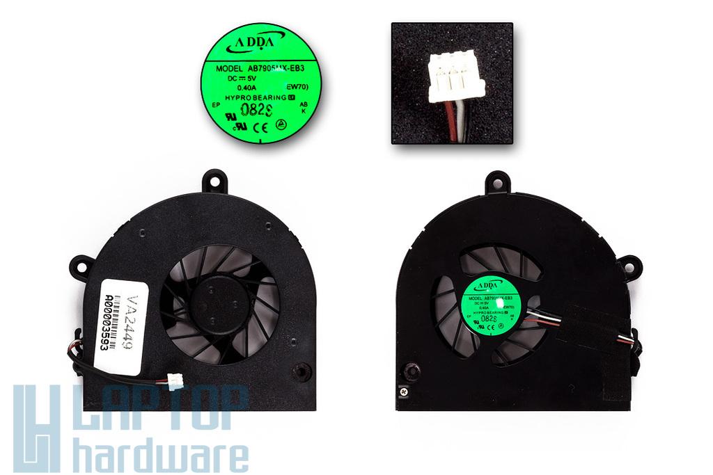 Acer Aspire 5251, 5551, 5550G, 5732ZG gyári új laptop hűtő ventilátor (AB7905MX-EB3)