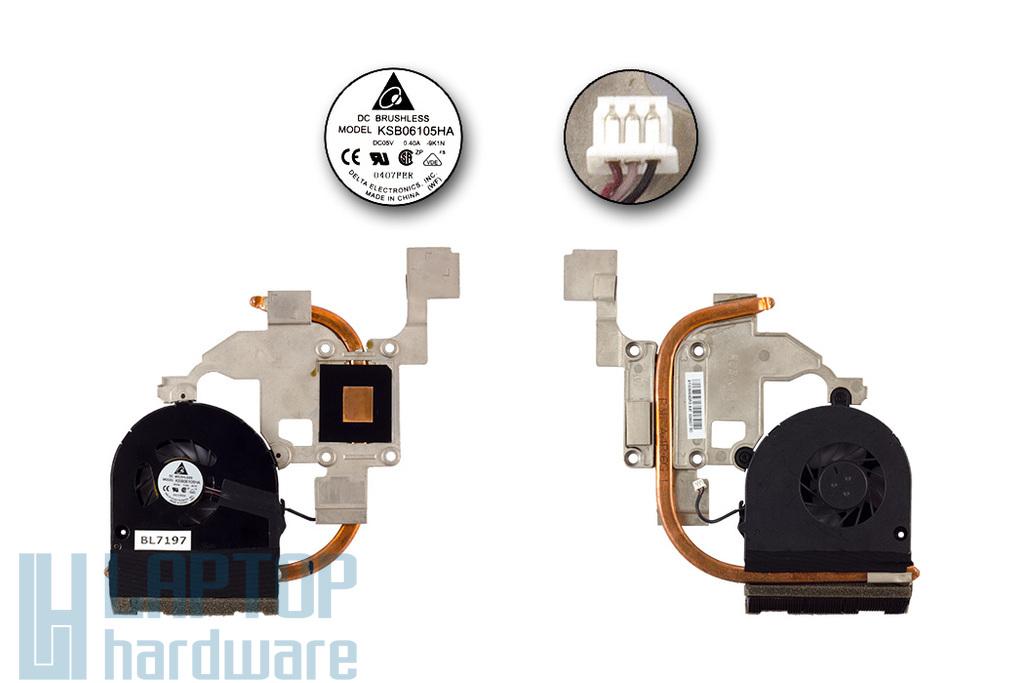 Acer Aspire 5251, 5551, 5550G használt laptop hűtő ventilátor egység (AT0C6004DR0, KSB06105HA)