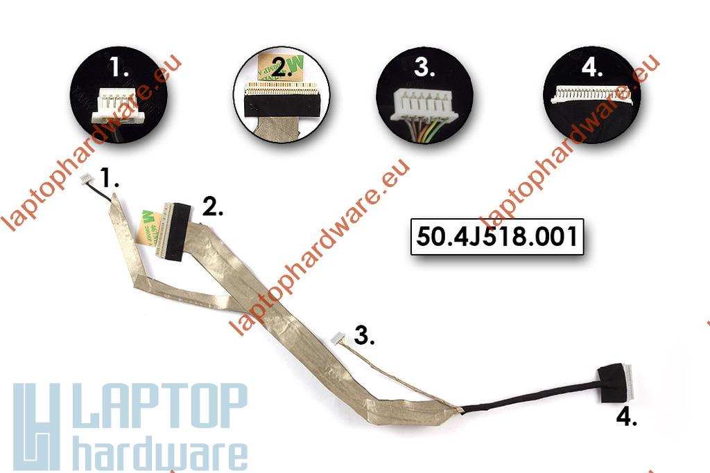 Acer Aspire 5330, 5730, 5730G laptophoz használt LCD kábel, 50.4J518.001