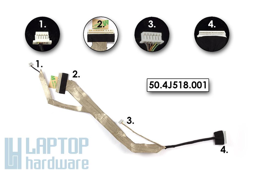 Acer Aspire 5330, 5730, 5730G gyári új laptop LCD kábel, 50.4J518.001