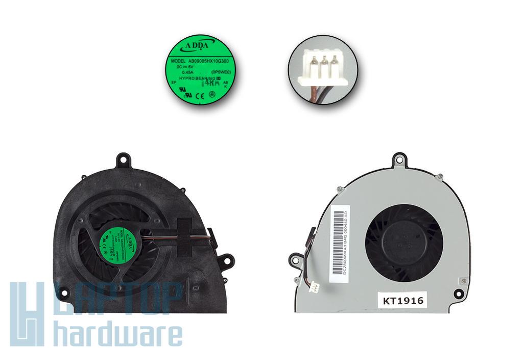 Acer Aspire 5750, 5755, E1-571, V3-571 gyári új laptop hűtő ventilátor (23.R9702.001, AB9005HX10G300 0P5WE0)