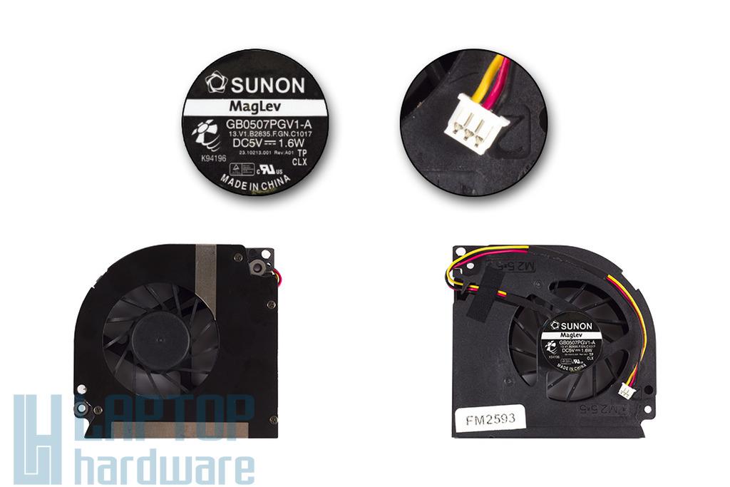 ACER Aspire 5420, 5420G, 5930, 5930G Gyári Új laptop hűtő ventilátor Sunon, GB0507PGV1-A