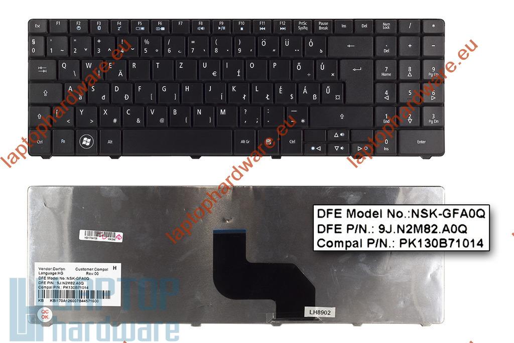 Acer Aspire 5516, 5517, 7715, eMachines E625, használt magyar laptop billentyűzet (NSK-GFA0Q)