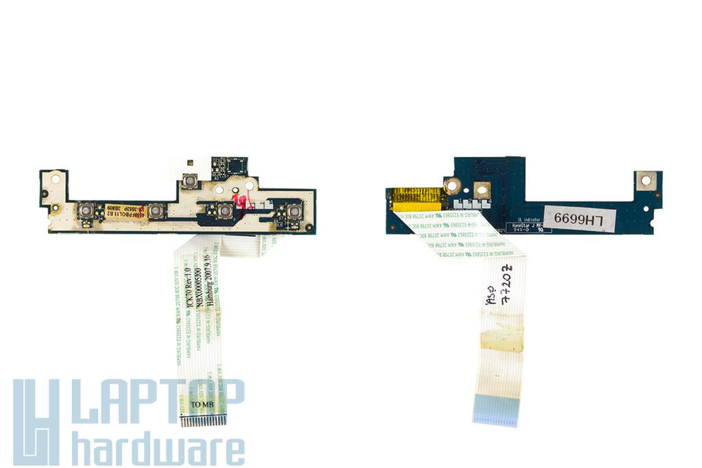 Acer Aspire 5520, 5310, 5315, 5720, 7720 Bekapcsoló panel, 4559FPBOL01 B2