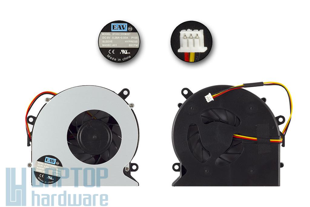Acer Aspire 5520, 5720, 7720 Gyári új hűtő ventilátor, DFS531205W30T
