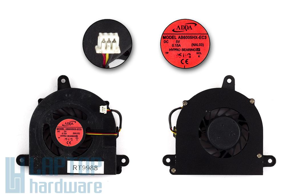 Acer Aspire 5534, 5538, 5538G használt laptop hűtő ventilátor (AB6005HX-EC3)