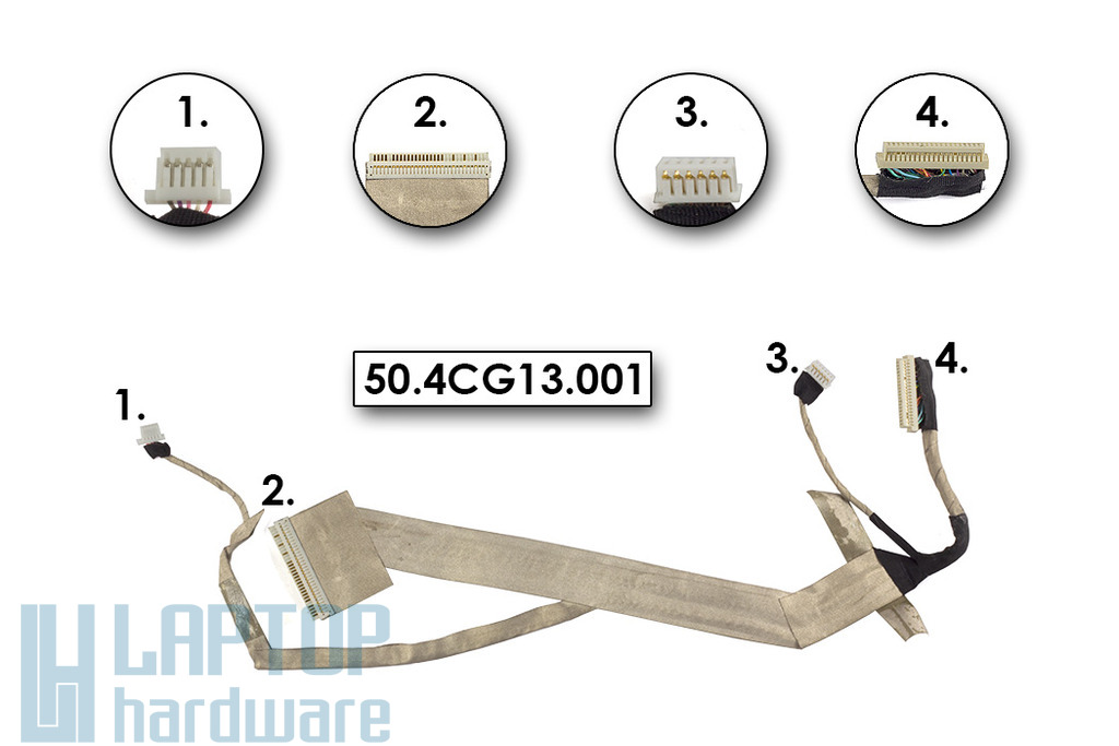 Acer Aspire 5536, 5738 használt laptop LCD kábel, 50.4CG13.001
