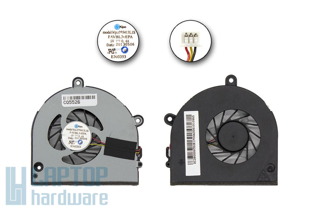 Acer Aspire 5552G, Toshiba Satellite P750 gyári új laptop hűtő ventilátor (055413L1S, FAVBL30EPA)