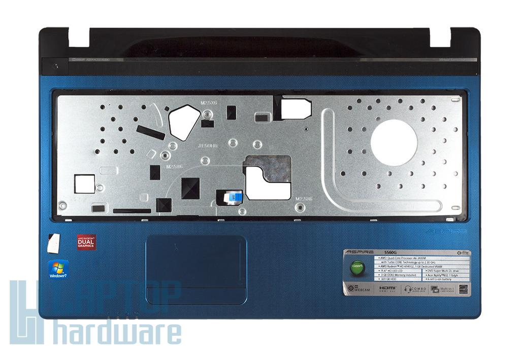 Acer Aspire 5560 használt felső fedél touchpaddel, kék, top case, palmrest, touchpad, blue, WIS604MF24004