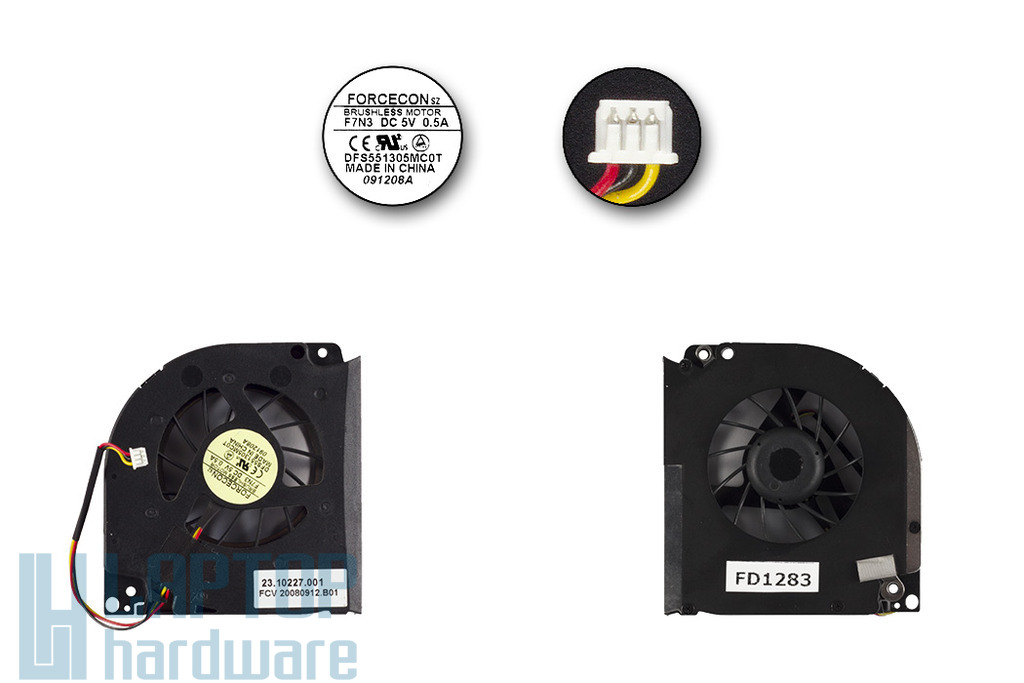 Acer Aspire 5620, 9300, Travelmate 5520, 5530 használt laptop hűtő ventilátor (23.10227.001)