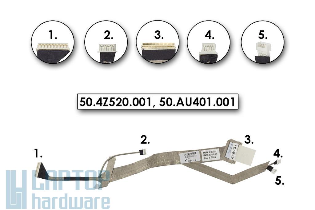 Acer Aspire 5730, 5930 sorozat gyári Új LCD kijelző kábel, 50.AU401.001