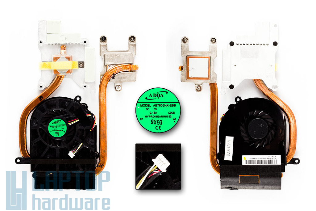 Acer Aspire 5739G Gyári Új hűtő ventilátor egység Adda 60.PDS07.006
