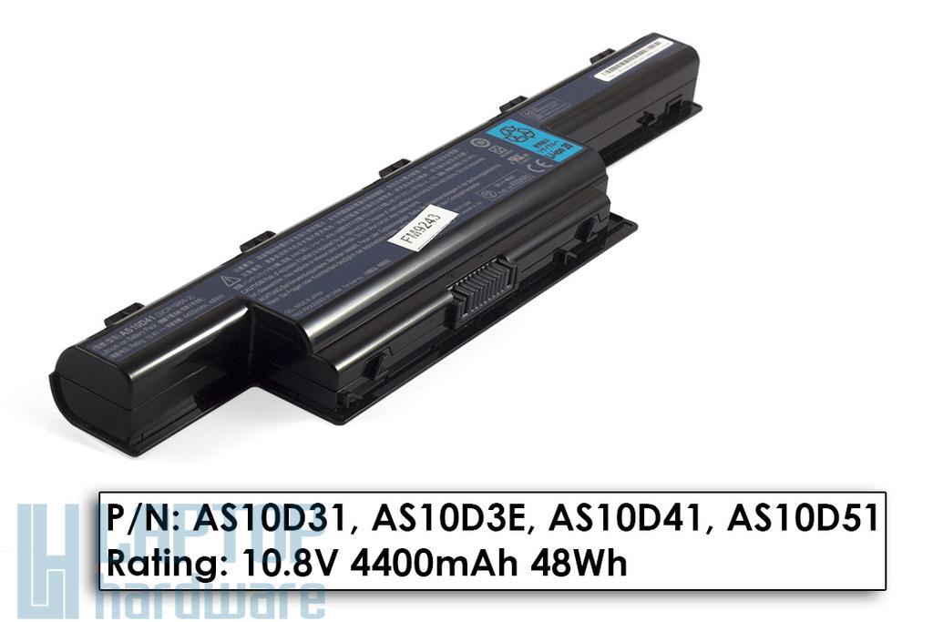 Acer Aspire 5736, 5741, 5742 Packard Bell TK81, TM81 használt 6 cellás laptop akku/akkumulátor 50%-os (AS10D41)