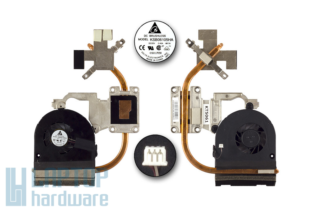 Acer Aspire 5742G, 5742ZG használt komplett laptop hűtő ventilátor, thermal module, 60.R5202.003
