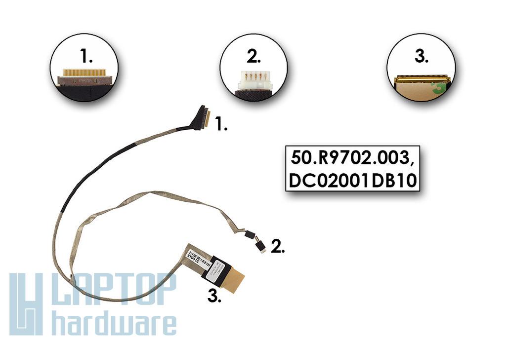 Acer Aspire 5750, Packard Bell EasyNote TS11HR, Gateway NV55S gyári új laptop LCD kábel (50.R9702.003, DC02001DB10)