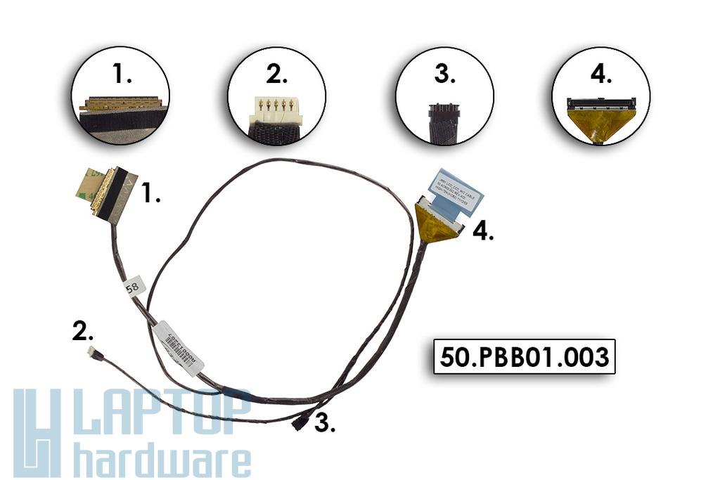 Acer Aspire 5810T, 5810TG, 5810TZ, 5810TZG gyári új LCD kijelző kábel, 50.PBB01.003
