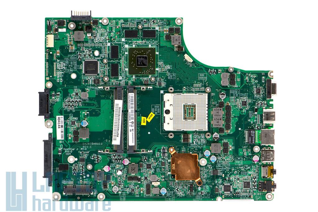 Acer Aspire 5820TG, 5820TZG használt laptop alaplap (Intel rPGA989, ATI) (MB.PTN06.001, DAZR7BMB8E0 Rev E)