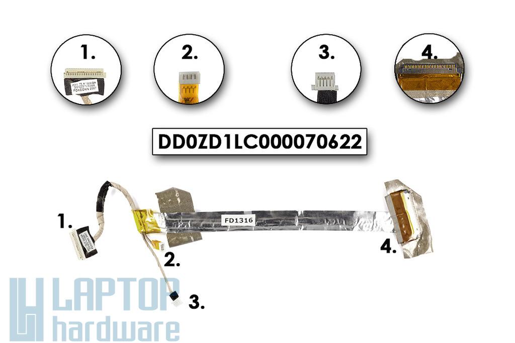 Acer Aspire 5920 laptophoz használt kijelző kábel (DD0ZD1LC000070622)